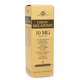 Solgar Liquid Melatonin 10 mg 2-ounce Natural Black Cherry Flavor