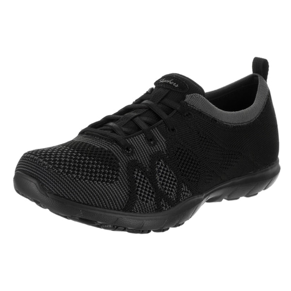 Women's Skechers Dreamstep Esteem Bungee Lace Sneaker Black/Charcoal