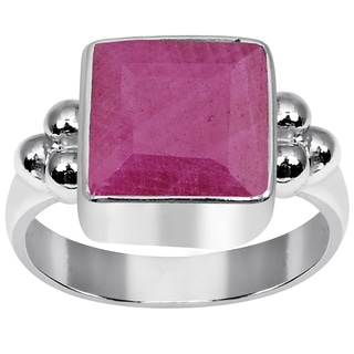 Orchid Jewelry 925 Sterling Silver 2 8/9 Carat Ruby Ring
