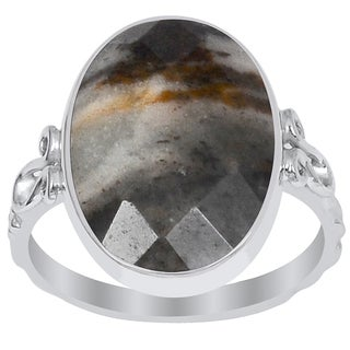 Orchid Jewelry 925 Sterling Silver 7 6/7 Carat Outback Jasper Ring