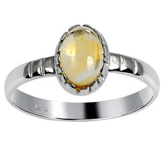 Orchid Jewelry 925 Sterling Silver 0.90 Carat Citrine Ring