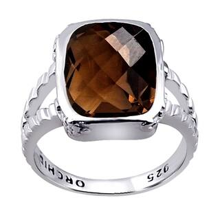 4.95 Ct Smoky Quartz 925 Sterling Silver For Women's By Orchid Jewelry