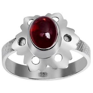 Orchid Jewelry 925 Sterling Silver 1 6/7 Carat Garnet Ring