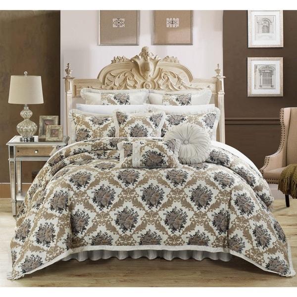 Chic Home Luxury 9-piece Zanotti Jacquard Comforter Set