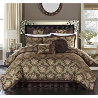 Chic Home 9-piece Zanotti Quality Jacquard Luxury Comforter Set