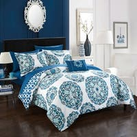 Clay Alder Home Prowers 8-piece Blue Reversible Bed in a Bag Comforter Set