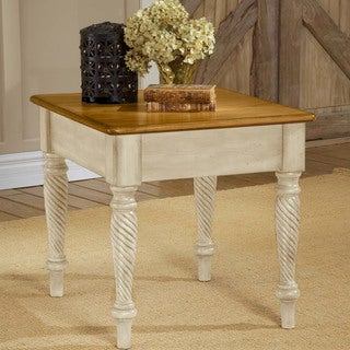 Hillsdale Furniture Wilshire Antique White End Table