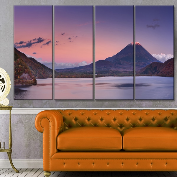 LARGE CANVAS PICTURE SUNSET LANDSCAPE LAKE WALL ART A1+