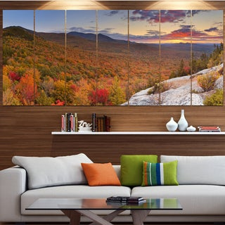 Designart 'Endless Forests in Fall Panorama' Landscape Wall Art on Canvas