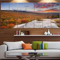 Designart 'Endless Forests in Fall Foliage' Landscape Wall Art on Canvas - Multi-color