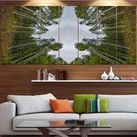 Designart 'Circle Composition of Coniferous Trees' Landscape Wall Art on Canvas - Multi-color