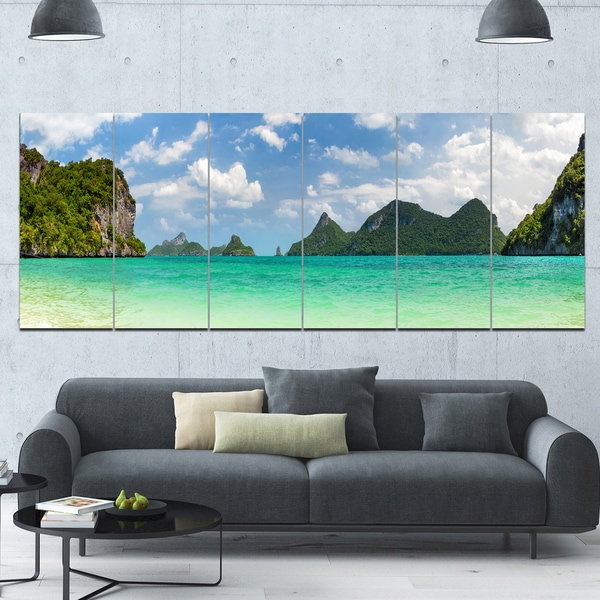 Thailand Waterfall Forest CANVAS WALL ART MULTI Panel Print Box Frame
