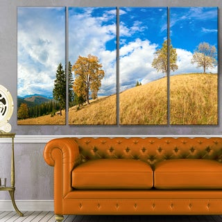 Designart 'Mountain Autumn Panorama' Landscape Wall Artwork