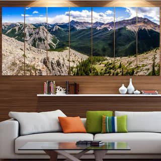 Designart 'Rocky Mountains Panorama' Modern Landscpae Wall Art|https://ak1.ostkcdn.com/images/products/15325361/P21789933.jpg?impolicy=medium