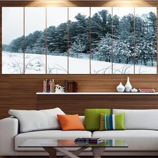 Designart 'Dark Winter Trees' Landscape Wall Artwork