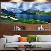 Designart 'Polar Ural Mountains Panorama' Landscape Wall Artwork - Multi-color
