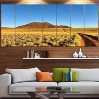Designart 'Namibrand Desert Landscape' Modern Landscape Art - Multi-color