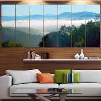 Designart 'Morning in Blue Ridge Parkway' Landscape Canvas Wall Artwork