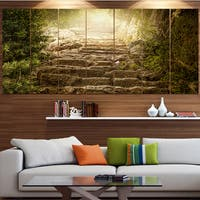 Designart 'Holy Light and Upstairs' Landscape Canvas Wall Artwork - Multi-color