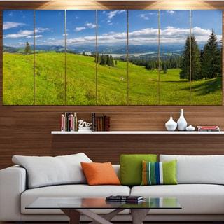 Designart 'Summer in Ceahlau Mountains' Landscape Canvas Wall Artwork