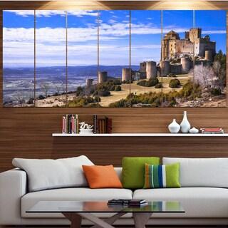 Designart 'Medieval Loarre Castle Panorama' Landscape Canvas Wall Artwork