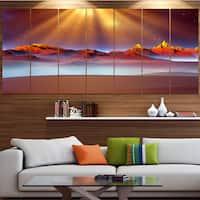 Designart 'Alien Landscape at Sunset' Landscape Canvas Wall Artwork - Multi-color