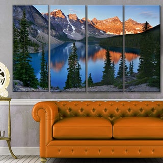 Designart 'Beautiful Moraine Lake Canada' Landscape Canvas Wall Artwork