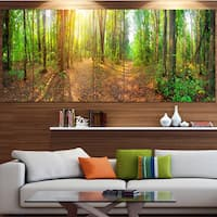 Designart 'Dense Forest Panorama' Landscape Canvas Wall Artwork - Multi-color