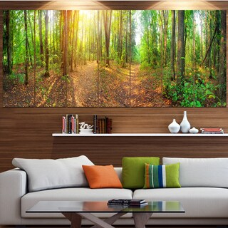 Designart 'Dense Forest Panorama' Landscape Canvas Wall Artwork