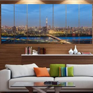 Designart 'Tokyo City View Panorama' Landscape Wall Artwork on Canvas
