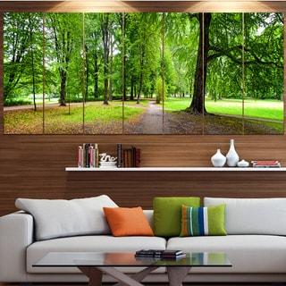 Designart 'Park in Autumn Panorama' Landscape Canvas Wall Artwork