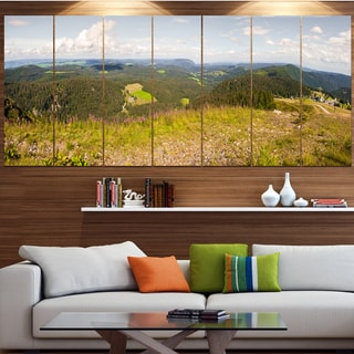 Designart 'Black Forest Germany Panorama' Landscape Wall Artwork