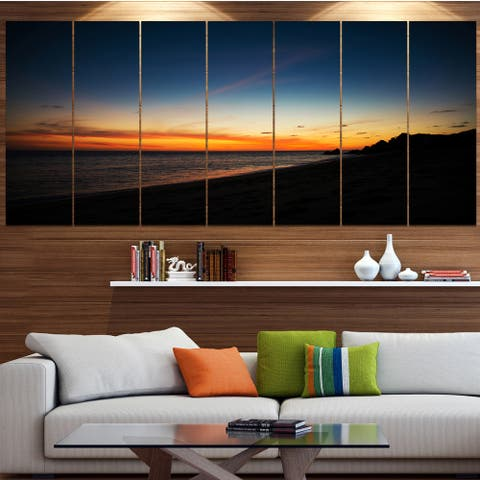 Designart 'Sunset Over Beach in Cabo St.Lucas' Landscape Wall Artwork - Multi-color