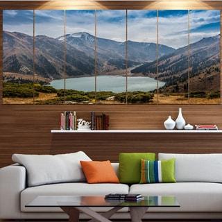 Designart 'Mountain Lake under Blue Sky' Landscape Wall Artwork