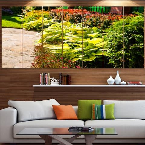 Designart 'Modern Green Garden Design' Landscape Wall Artwork