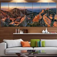 Designart 'Majestic Sunset in Fall Mountains' Landscape Wall Artwork - Multi-color