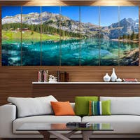 Designart 'Lake Oeschinen Switzerland' Landscape Wall Artwork on Canvas