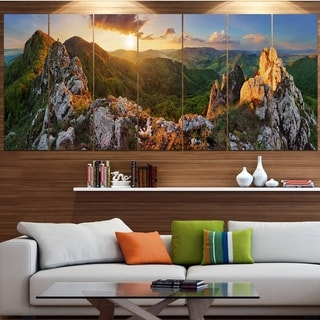 Designart 'Panorama Mountains Slovakia' Landscape Wall Artwork - Thumbnail 0