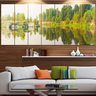 Designart 'River and Forest Panorama' Landscape Wall Artwork