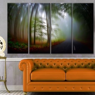 Designart 'Fall Landscape in the Forest' Landscape Wall Artwork on Canvas