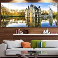Designart 'Fairytale Medieval Castles' Landscape Wall Artwork on Canvas