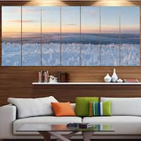 Designart 'Winter Landscape in Lapland' Landscape Wall Artwork on Canvas - Multi-color