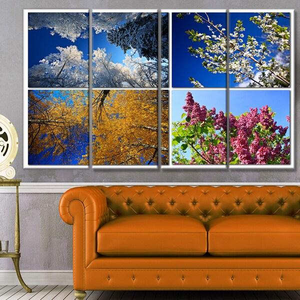 Shop Designart 'Four Seasons Of Nature Collage' Landscape