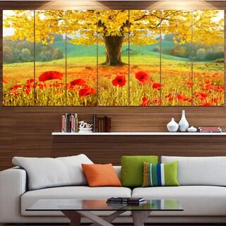 DesignArt 'Beautiful Autumn Yellow Tree' Modern Floral Canvas Art