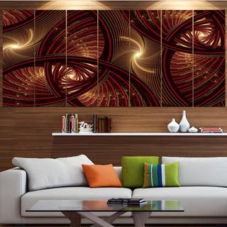 Designart 'Brown Symmetrical Fractal Pattern' Floral Canvas Wall Artwork https://ak1.ostkcdn.com/images/products/15325721/P21790254.jpg?impolicy=medium