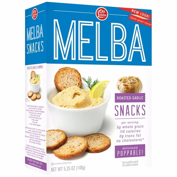 Old London Melba Snacks, 5.25 ounce Roasted Garlic, Sesame , Sea Salt