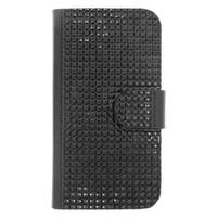 Insten Leather Rhinestone Bling Case Cover with Wallet Flap Pouch For Motorola Moto E (2nd Gen)