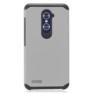 Insten Gray/ Black Hard Snap-on Dual Layer Hybrid Case Cover For ZTE Zmax Pro