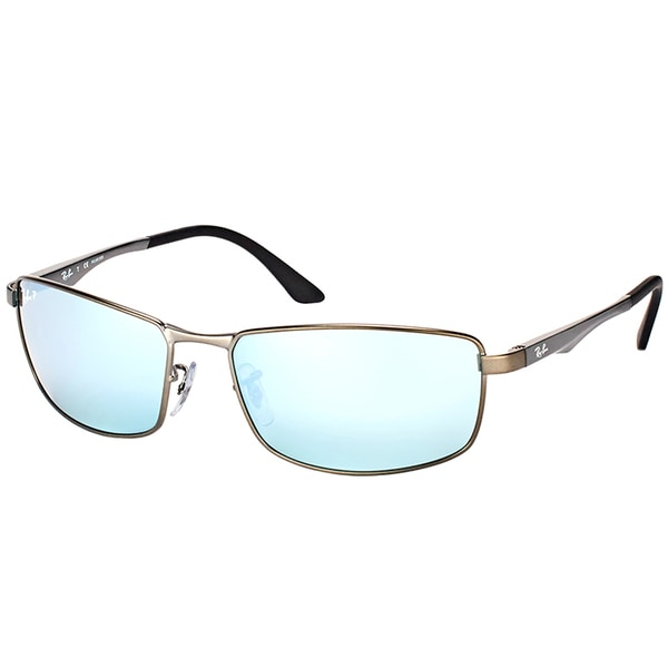 b8e7762301 Ray-Ban RB 3498 029 Y4 Matte Gunmetal Metal Sport Sunglasses Gunmetal  Silver Flash