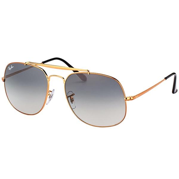 319a521774d43 Ray-Ban RB 3561 197 71 General Bronze Metal Aviator Sunglasses Grey  Gradient Lens